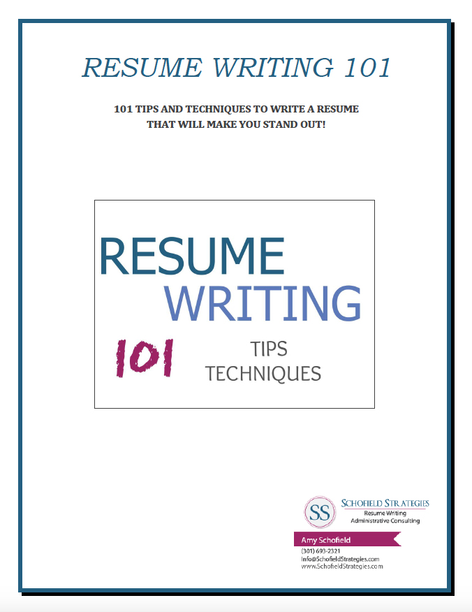 Resume Writing 101 Alluring Resume Writing  101 Tips And Techniques  Schofield Strategies