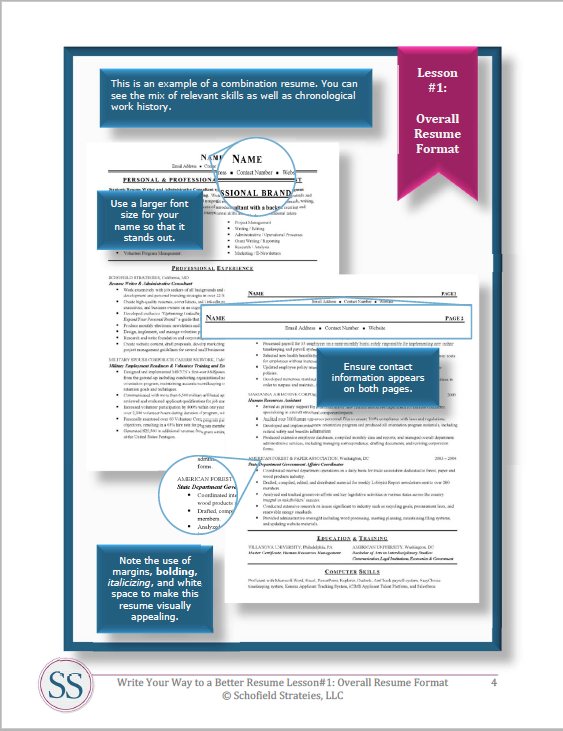 write your way to a better resume training plus templates