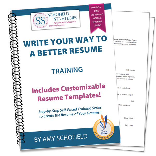 Write Your Way To A Better Resume Training Plus Customizable Resume  Templates