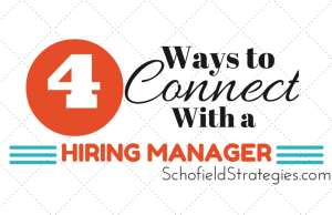 ways to connect with a hiring manager