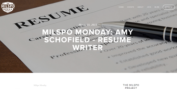 Amy Schofield was interviewed by the Milspo Project