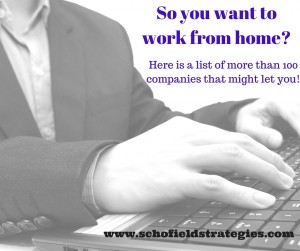 Work From Home List